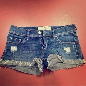 Hollister distressed denim short-short size 1